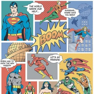 Papel Pintado Super Man FANTASY DECO DC9002-1