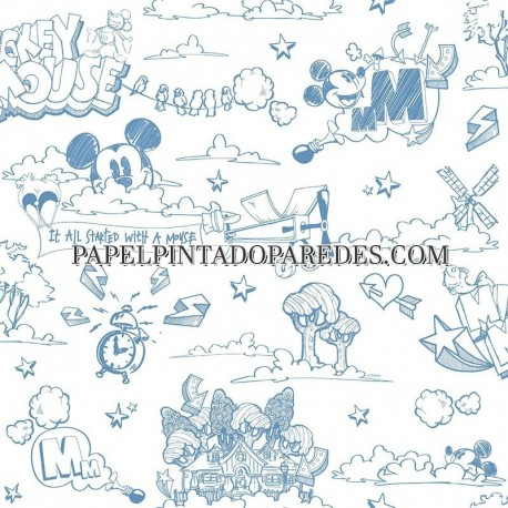 Papel Pintado Mickey Mouse FANTASY DECO MK3014-2