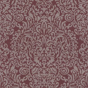 Papel Pintado Rojo Ornamental